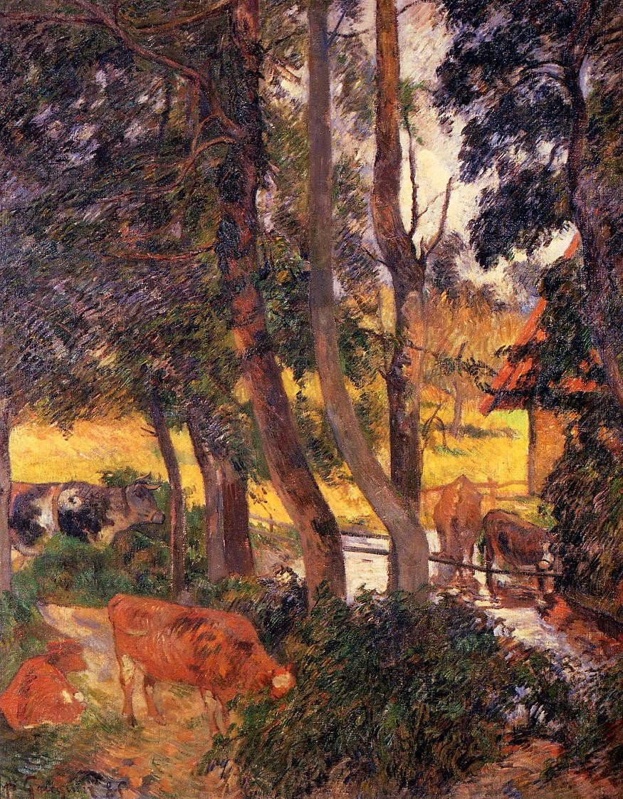 Cattle drinking 1885 galleria darte moderna milan italy
